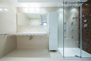 Cleaning products for hotel bathrooms and customer lounges